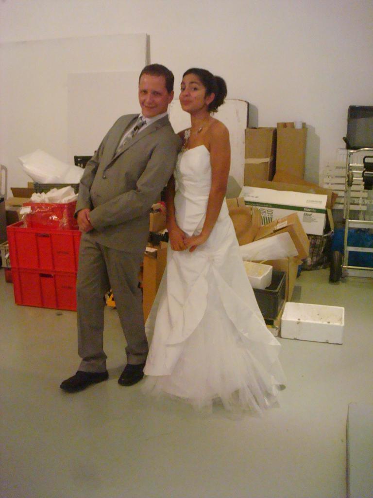 Les mariés de la démo de Lyon