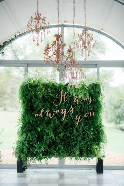 mur végétal mariage
