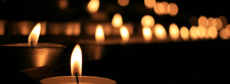 bougies deuil